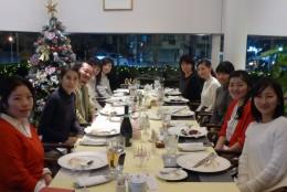 合同勉強会の後の食事会